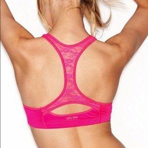 PINK Victoria's Secret Lace Back Yoga Push Up Bra